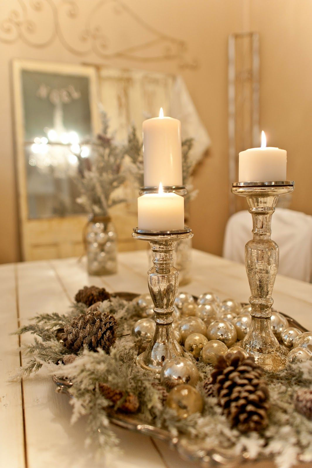 Christmas table decorations ideas make - 50 Creative Classy Diy Christmas Table Decoration Ideas