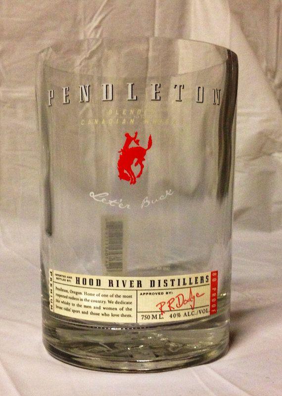 Pendleton Whiskey Liquor Bottle Vase Recycled Glass Bottle On Etsy