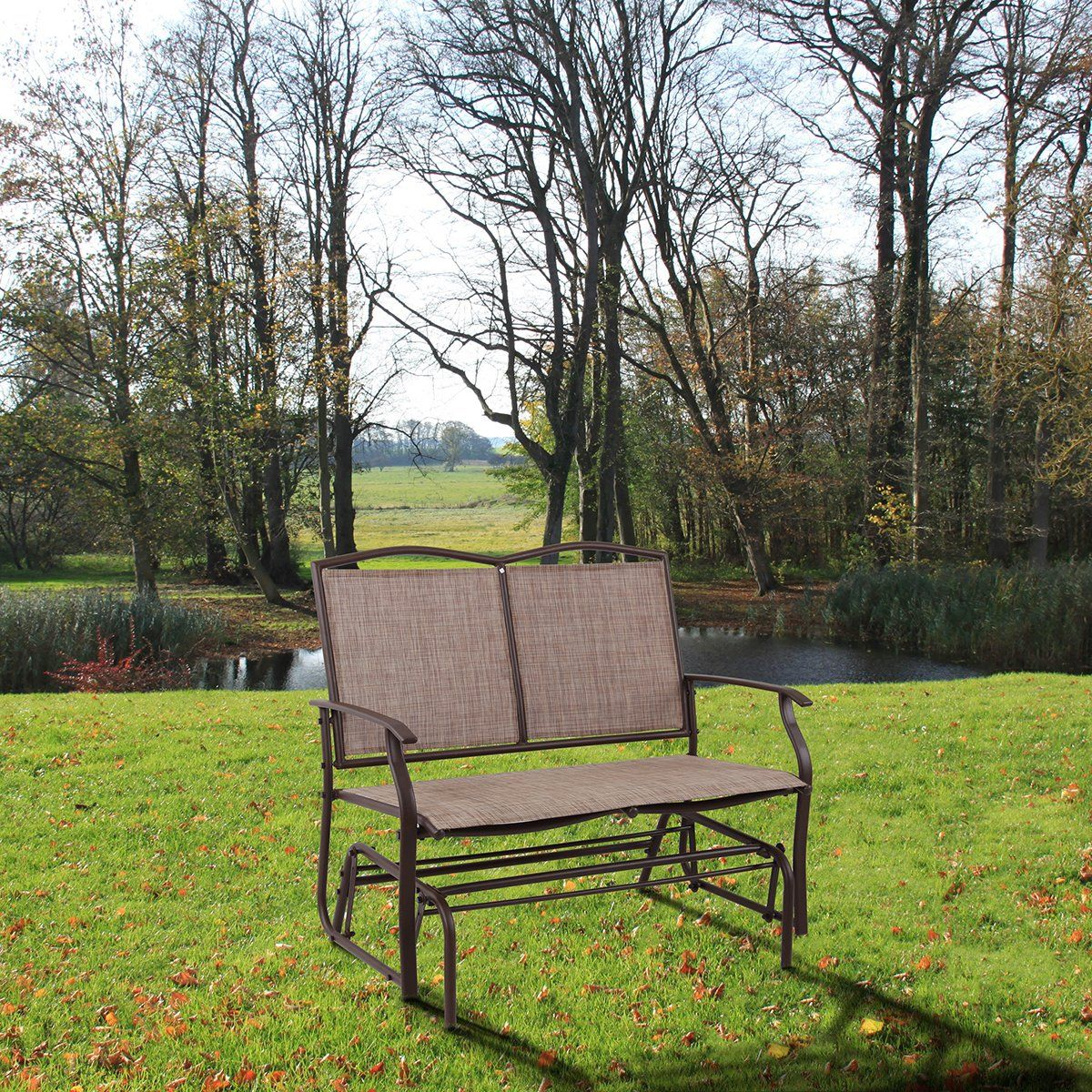 Phi villa patio swing glider bench for persons rocking chair