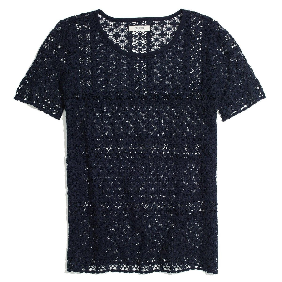 Madewell Crochet Mix Top