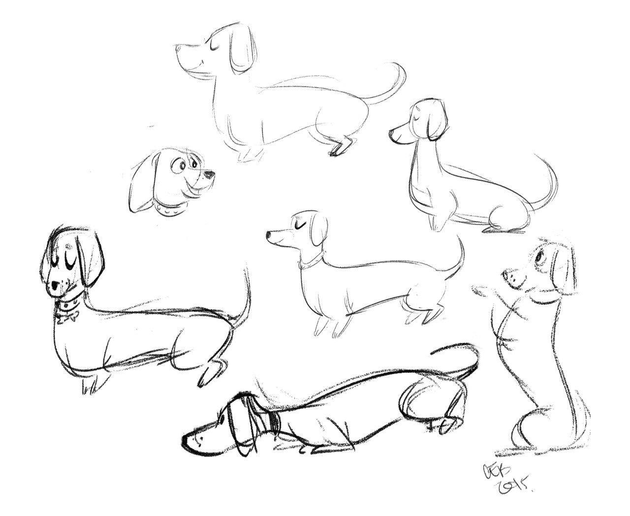 Dachshund Dachshund Drawing Animal Drawings Dachshund