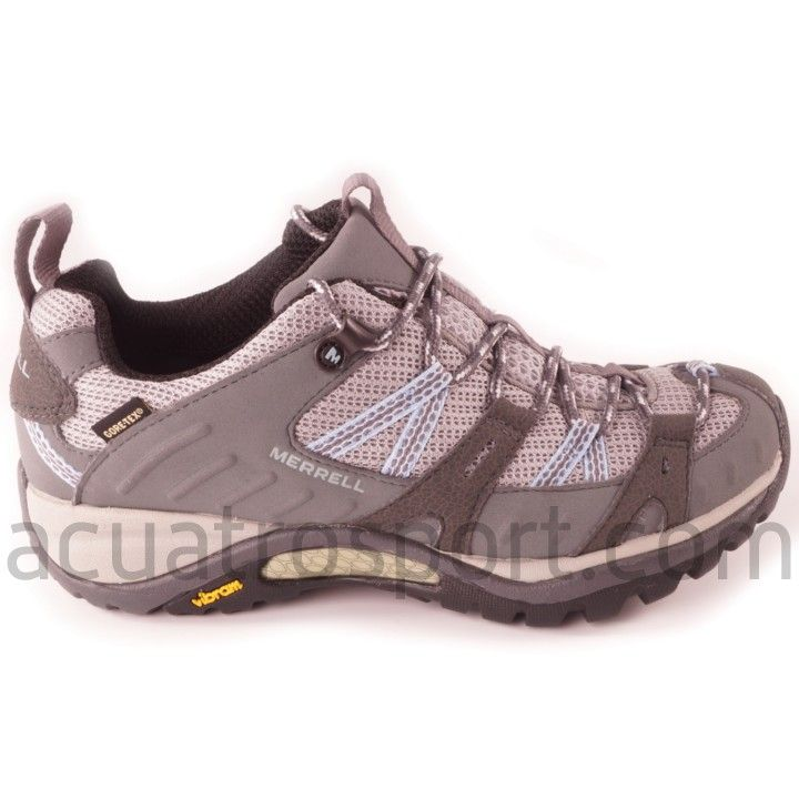 Zapatos grises Merrell para mujer