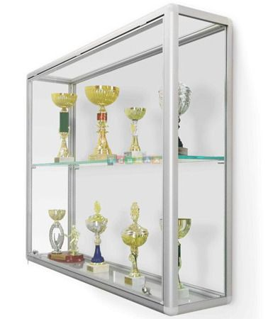 Display case for cups 120x25x90 cm