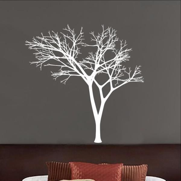 Winter Tree Decal Bare Tree Style Vinyl Wall Decal - Custom die cut vinyl wall decals