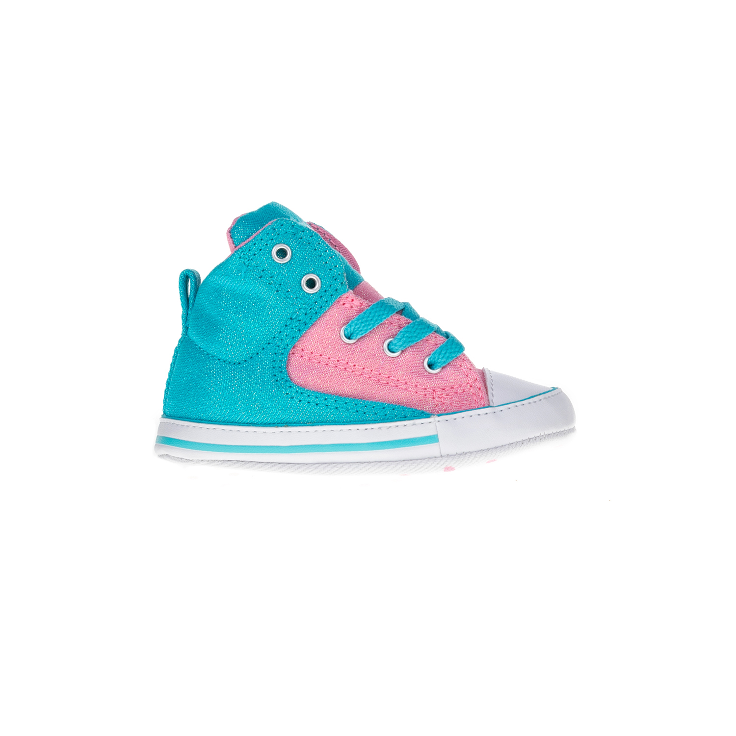 9249a8ea88e CONVERSE – Βρεφικά μποτάκια Chuck Taylor All Star First St ροζ-μπλε  Παιδικά/Baby