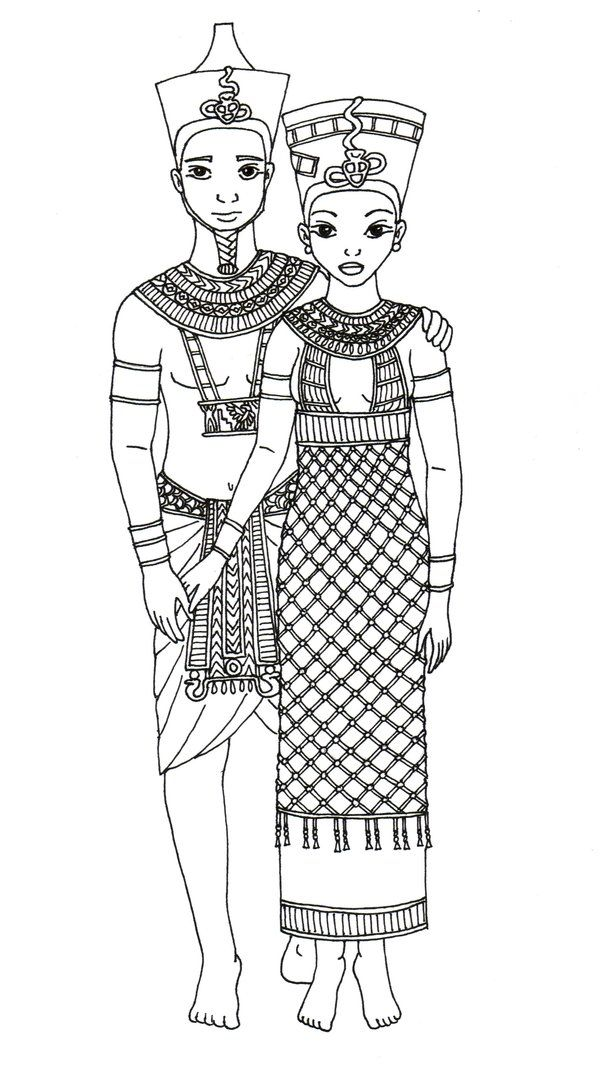 Pharao and his Queen by hellenielsen82 on deviantART