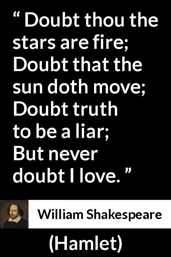 William Shakespeare About Love Hamlet 1623 Frases