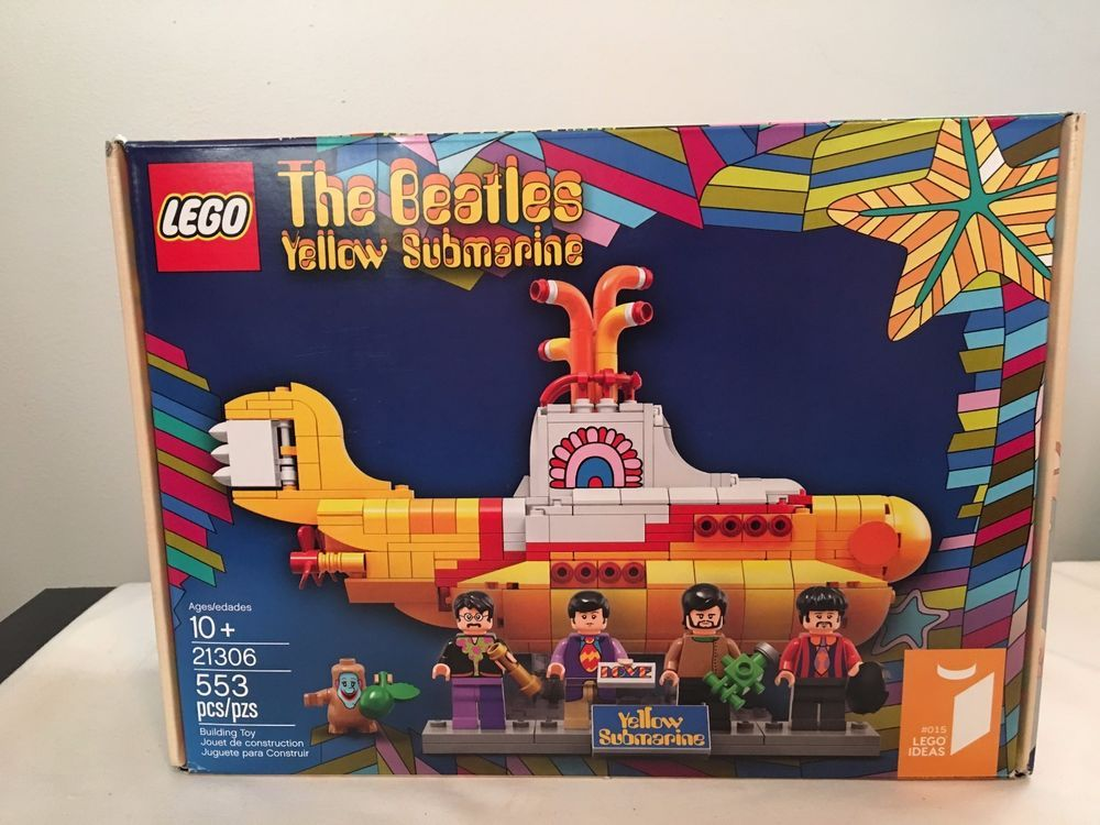 NEW Building Toy, Kit LEGO IDEAS The Beatles Yellow Submarine 21306-553 Pcs