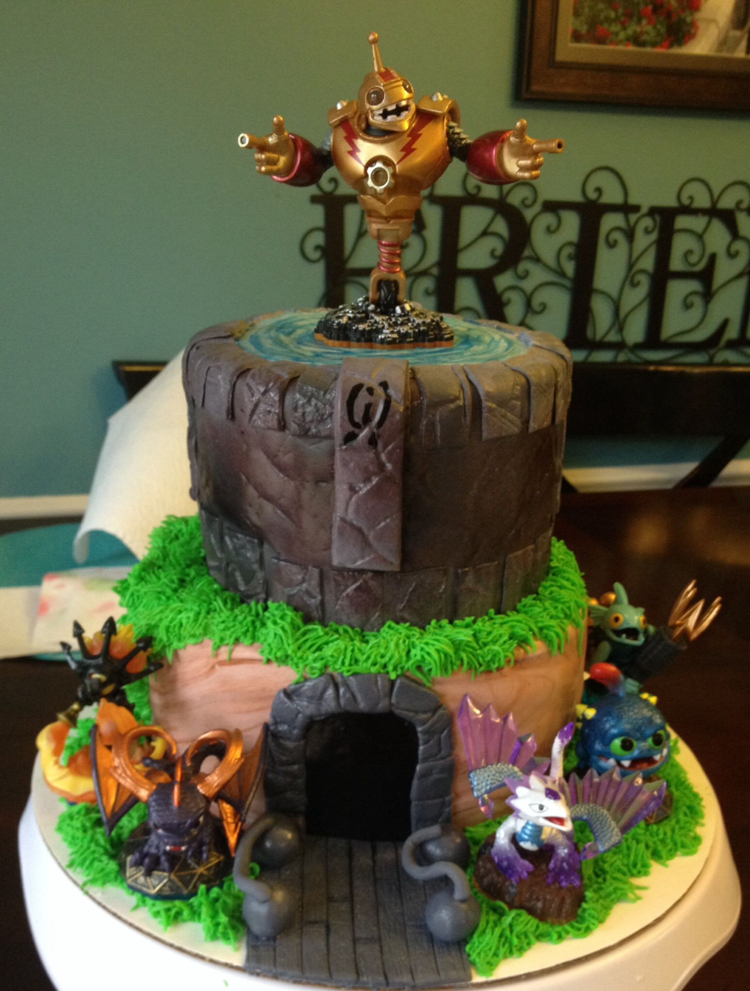 Skylanders cake my cakes Pinterest Skylanders Cake and Birthdays