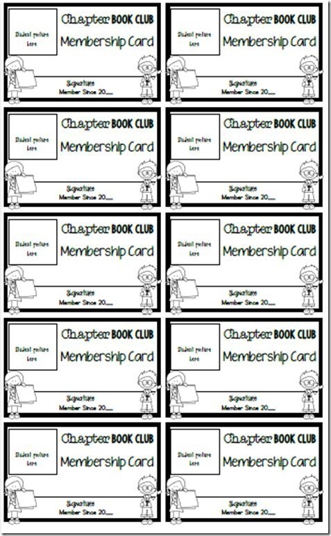 Where the Magic Happens - u201cThe Chapter Book Clubu201d Easy Chapter - printable membership cards