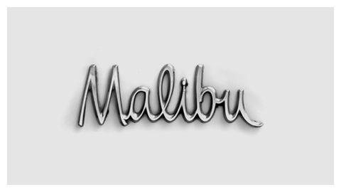 Malibu Chromeography Car Lettering Lettering Chevrolet