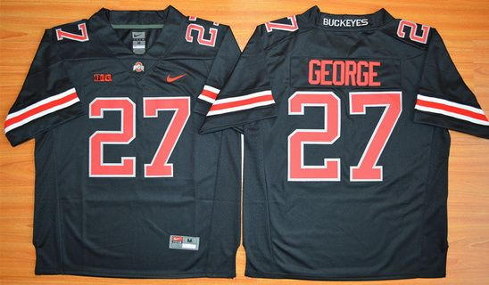 black and red ohio state jersey