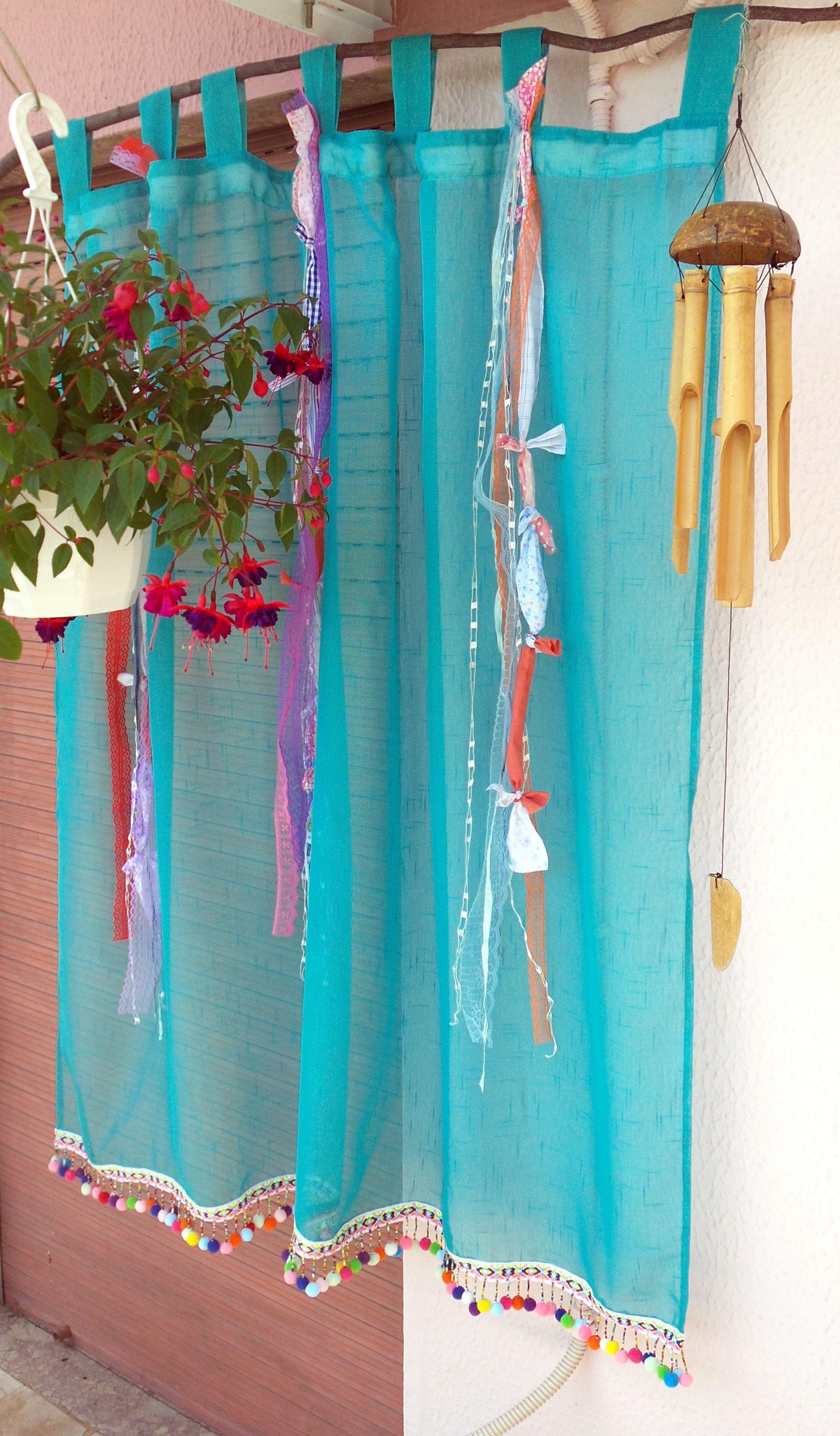 Boho Tab Top Curtain Gypsy Bohemian Curtain Sheer Hippie Door Curtains