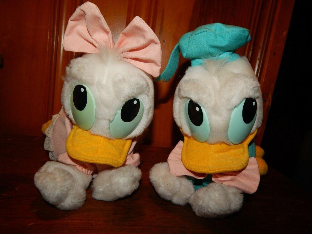 Vintage 1984 Disneyland Plush Baby Donald & Daisy Duck