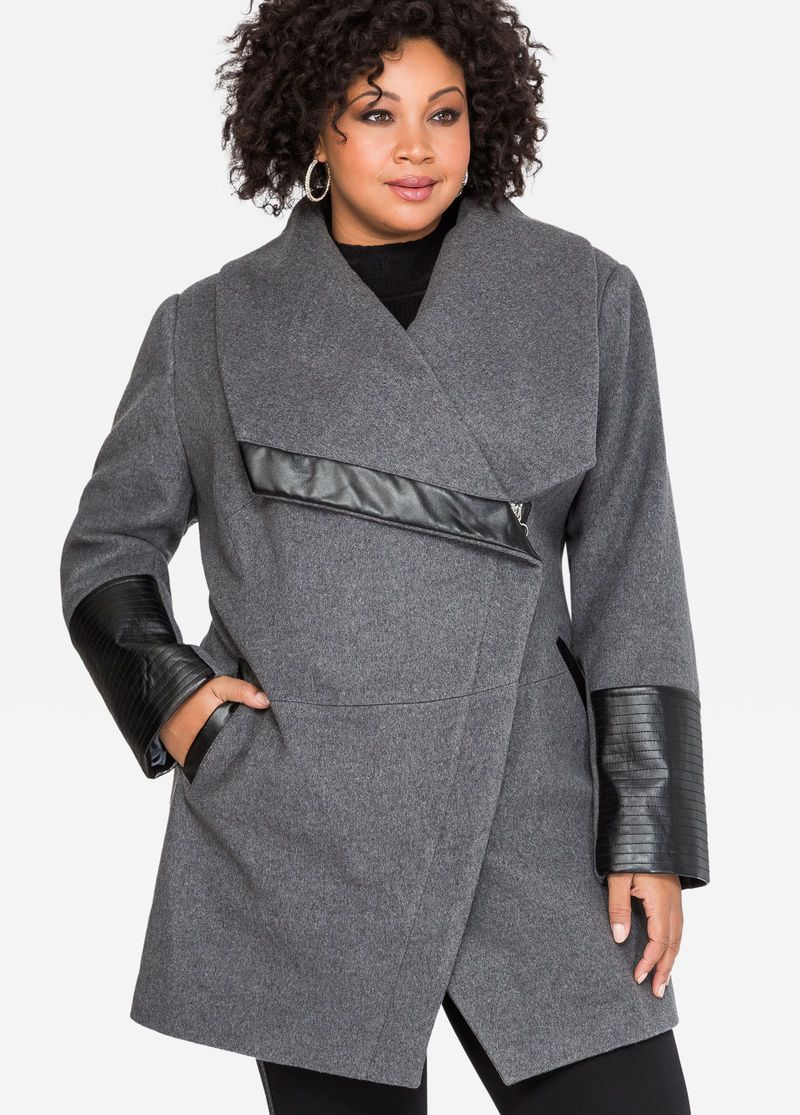 24bbd6b6285bd Oversized Collar Wool Winter Coat Oversized Collar Wool Winter Coat