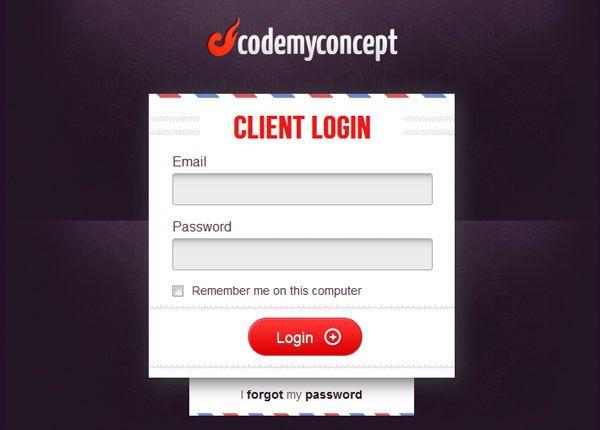 codemyconcept.com Login Form Design Inspiration | interface ...