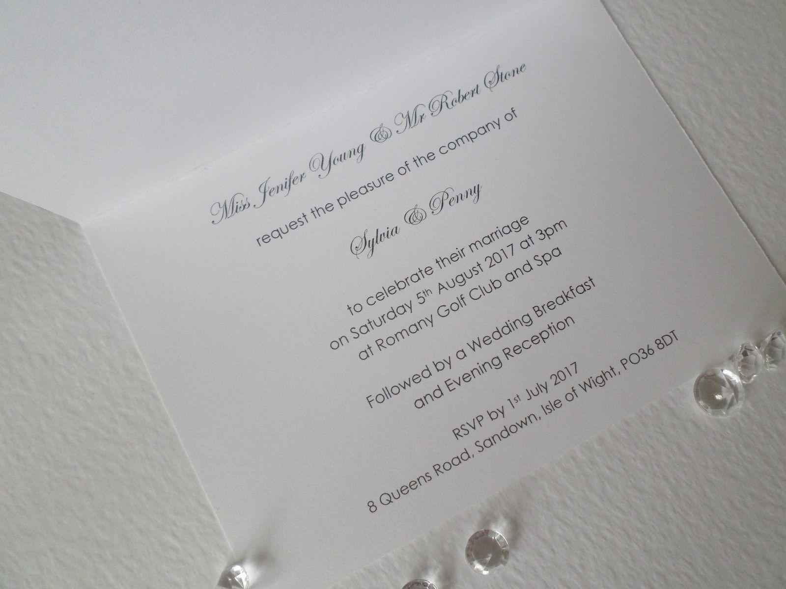 Personalised Handmade Wedding Invitations Hot Pink Tiffany Blue Pale ...