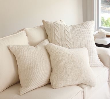 Faux Sheepskin Pillow Covers For The Home Pottery Barn