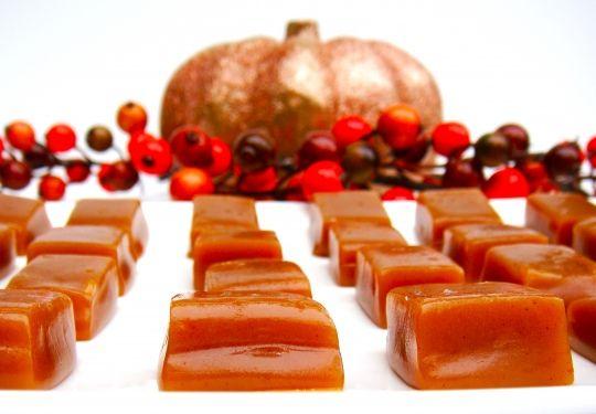 Apple juice caramels