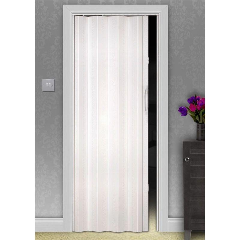 Find White Oak Effect Single Skin Folding Internal Door - 820mm Wide ...