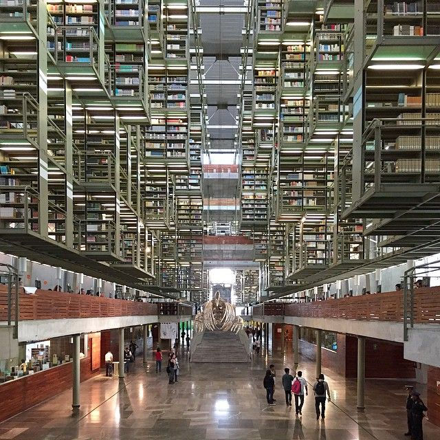 """""""The Vasconcelos Library by #AlbertoKalach (2006) in #MexicoCity, amazing project  #archdaily #mextropoli #instagood #mexico #iphonesia #library…"""""""