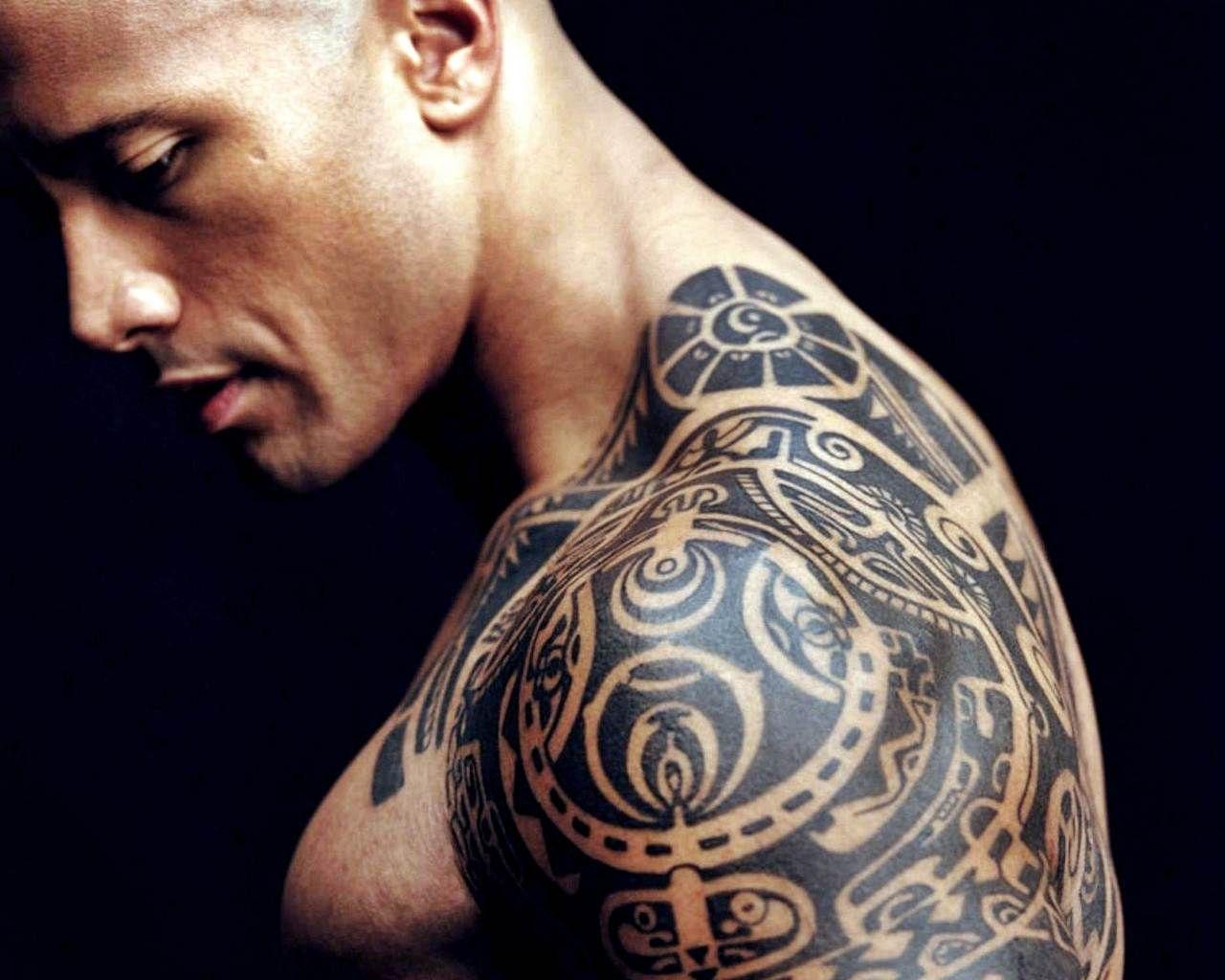 51a599b0be283 Happy Birthday, Dwayne 'The Rock' Johnson! | men | Rock tattoo ...