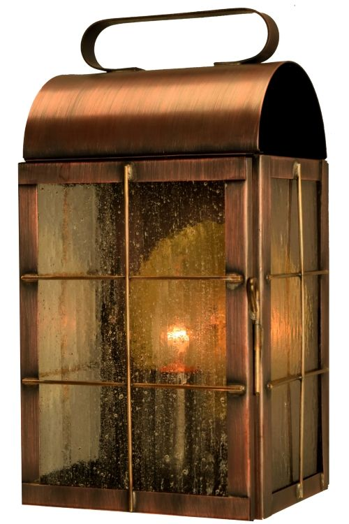 Newport Harbor Wall Sconce Copper Lantern Nautical Outdoor Light Handmade In The Usa From Solid And Br Rustic Porch Patio Deck Dock