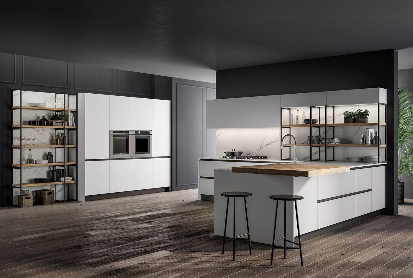 Kitchen 2019 on Behance in 2020 | Distressed kitchen ...
