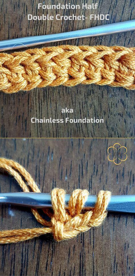 Foundation Half Double Crochet- FHDC