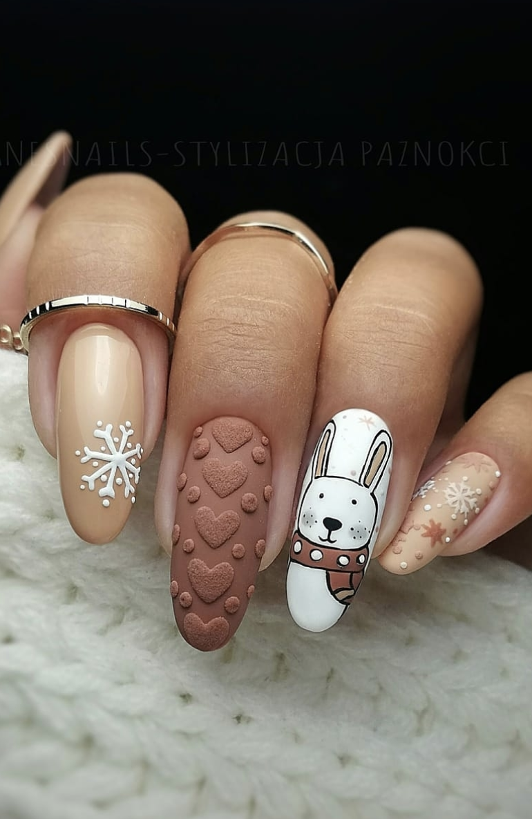 These festive nail art ideas offer a chic alternative to Christmas jumpers