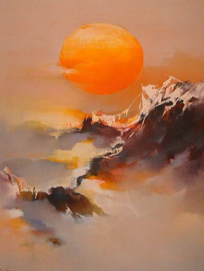Sun 1979 46x36 Super Huge by Hong Leung