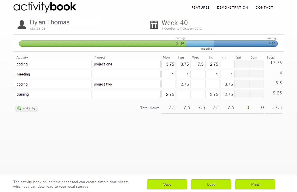 activity book website online time sheet tool activity book user