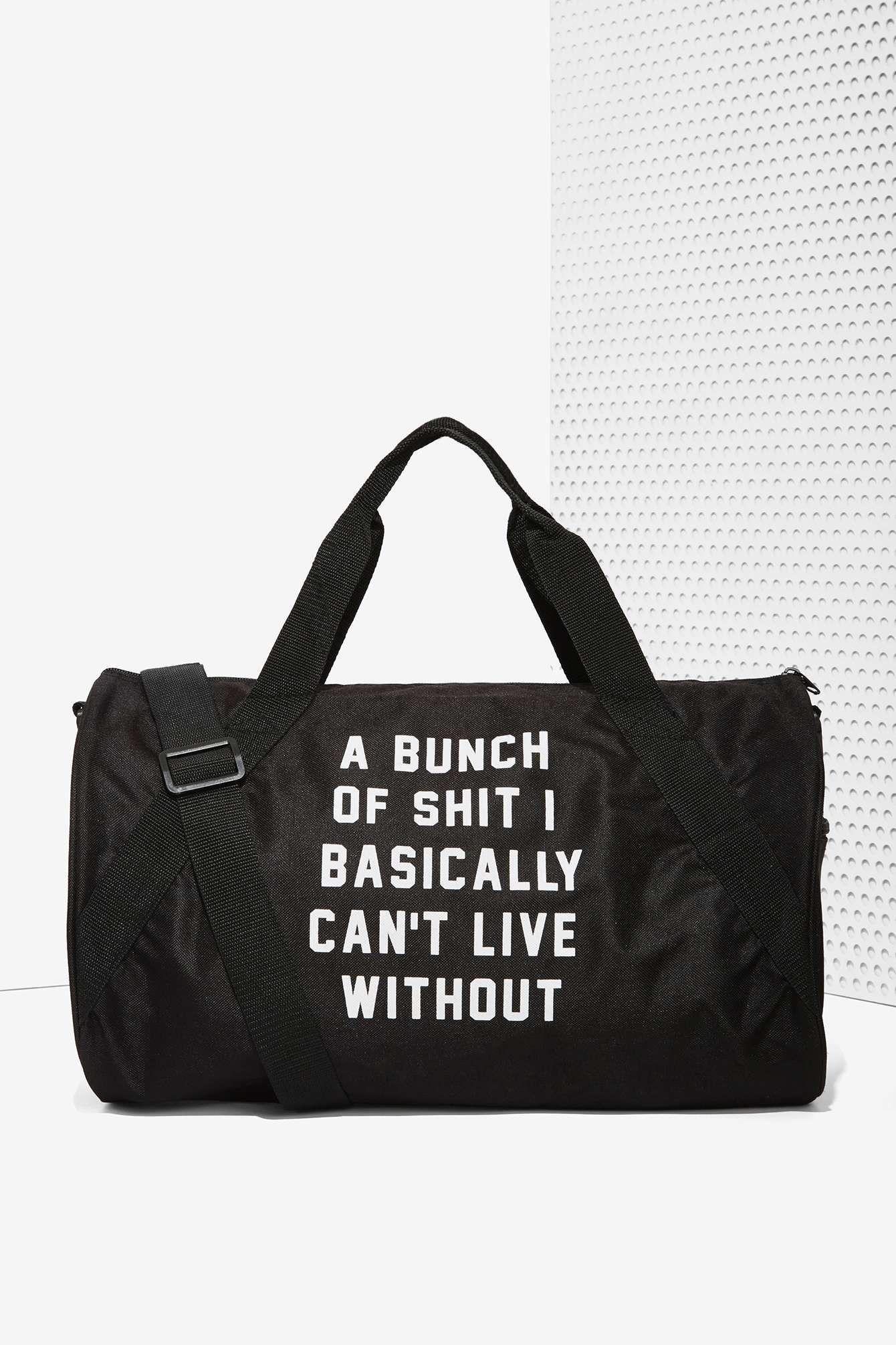 Danielle Guizio Important Sh*t Duffel Bag | Shop Bags + Backpacks at Nasty Gal