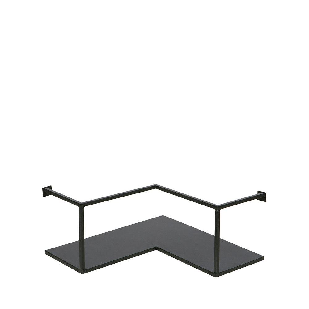 Etagere D Angle Design Industriel Metal Noir Meert Etagere Angle Etagere Murale Cuisine Etageres Murales