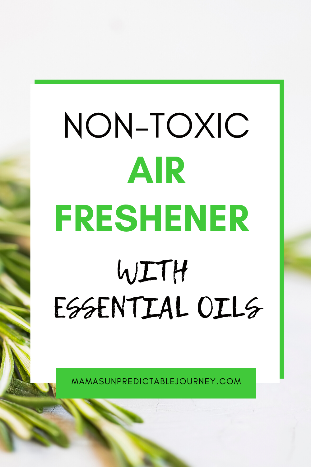 DIY NonToxic Air Freshener Spray With Essential Oils in