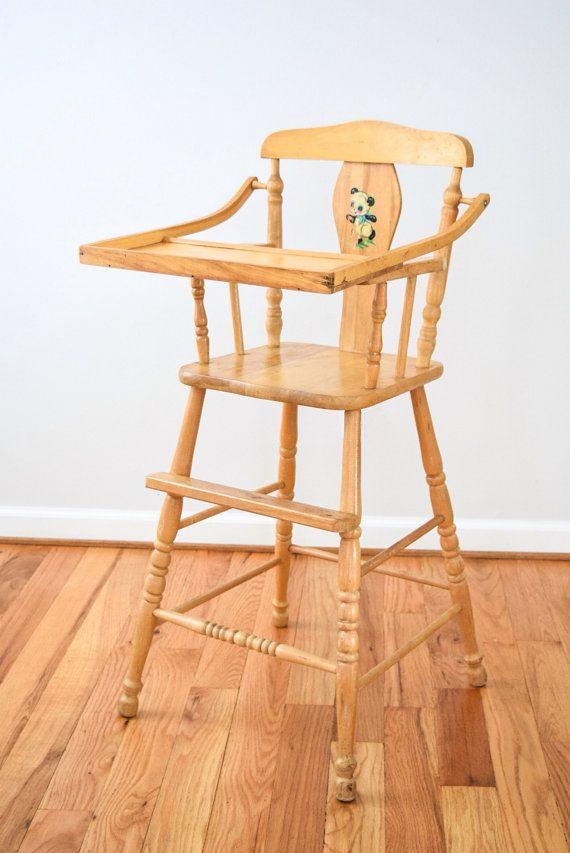 high chair antique high chair baby chair wooden high by littlecows - High Chair Antique High Chair Baby Chair Wooden High By Littlecows