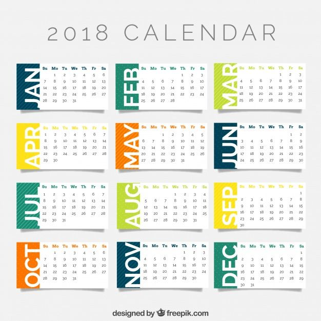 2018 Year Calendar Wallpaper Download Free 2018 Calendar by Month - yearly calendar