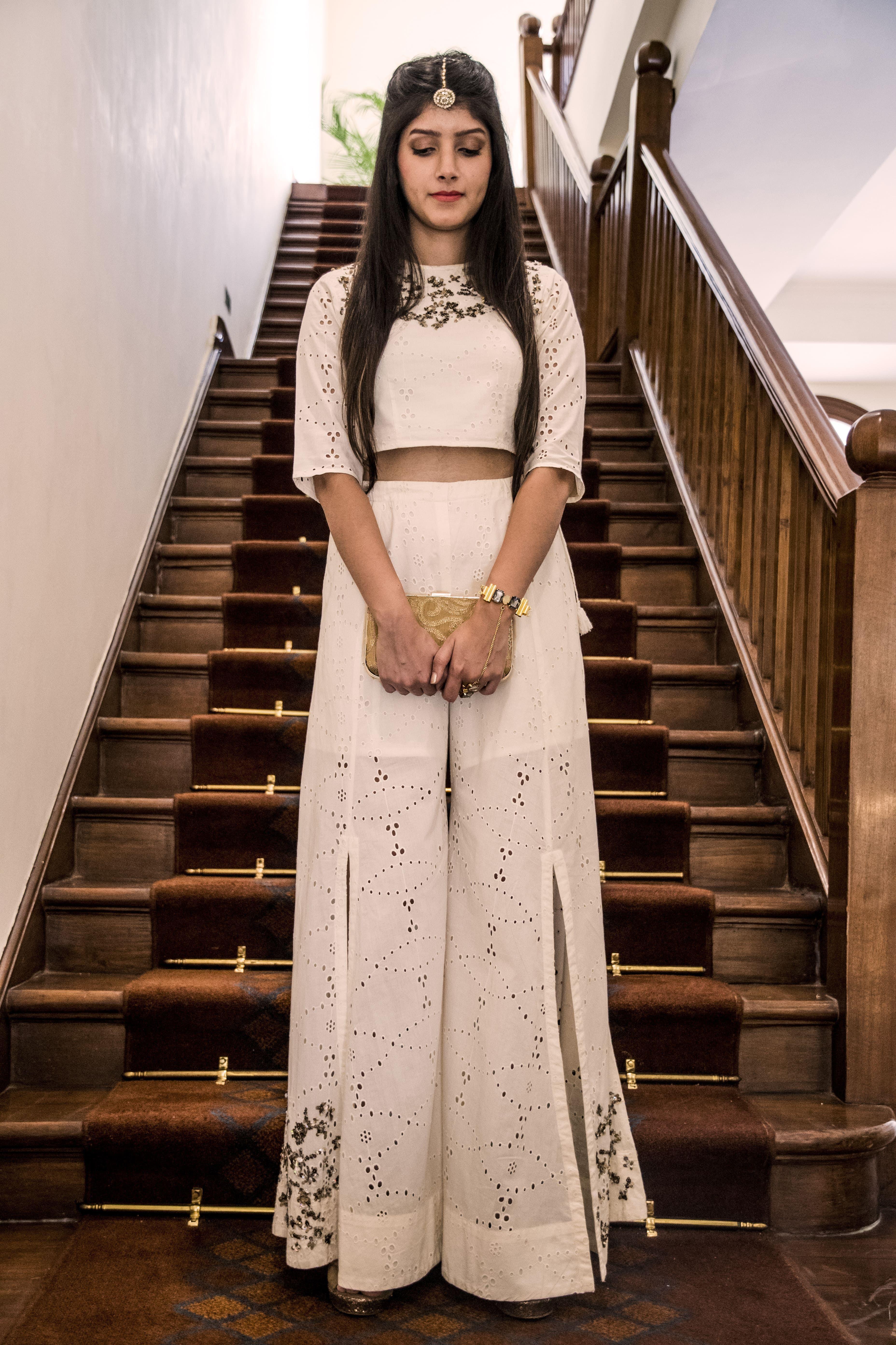 Rina Dhaka Latest Collection crop top palazzo ethnic wear