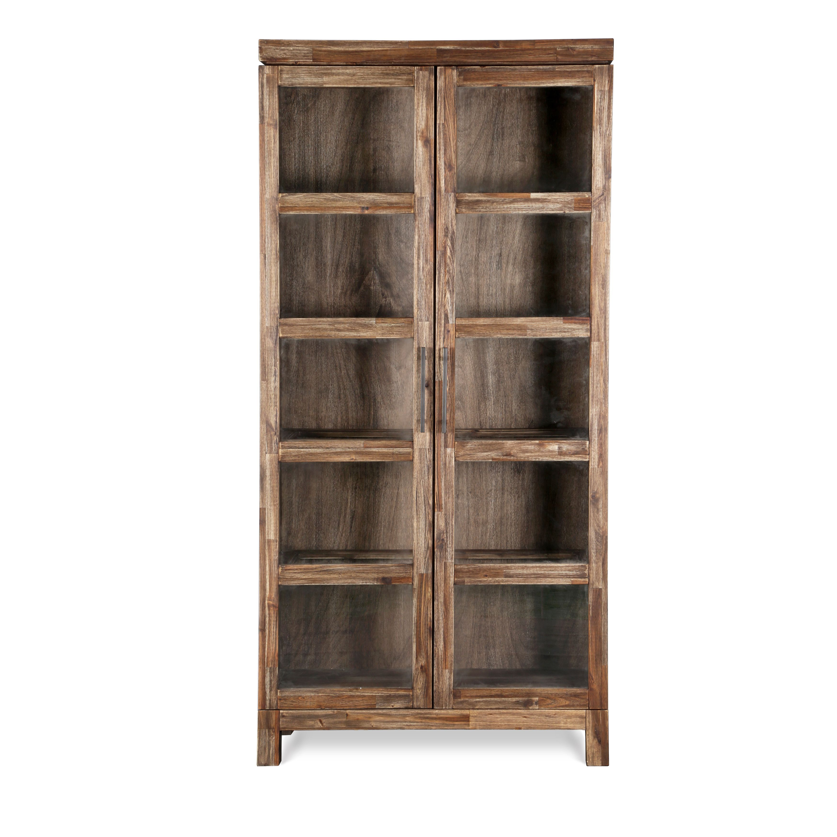 doors wood bookcases img bookcase brown products drawers storage with large solutions office wooden