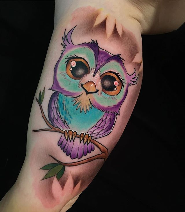 Kevin Furness Baby Owl Tattoos Watercolor Owl Tattoos Body Art Tattoos
