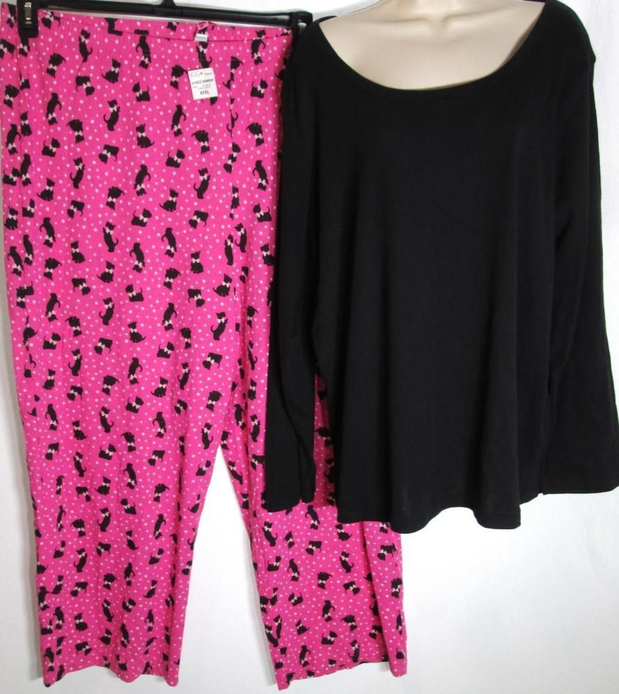 Red flannel pajama pants  Charter Club Knit Top and Pajama Pants Set Black Pink Scotties Dogs