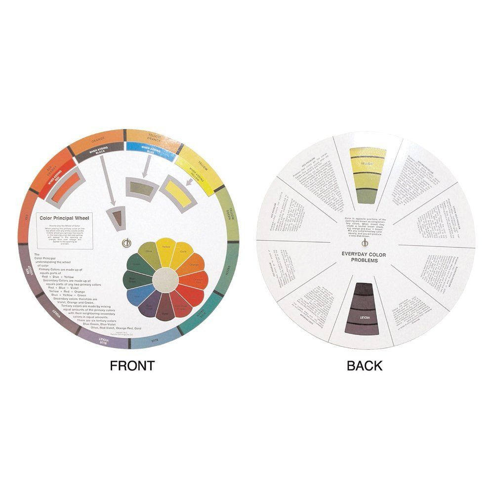Hair Art Color Wheel Education Tool Learn Handling And Mixing Hair