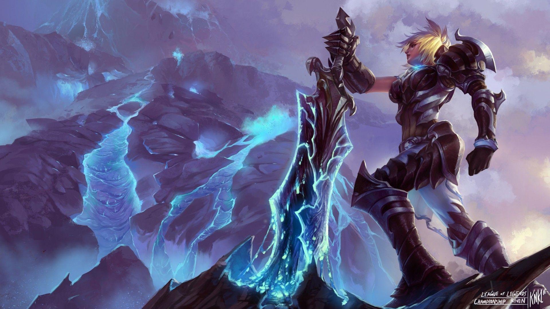 Championship Riven Wallpaper League Of Legends Play League Of Legends Lol League Of Legends