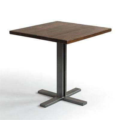 Square Reclaimed Wood Cafe Tables Custom Made In The Usa Furniture Wood Cafe Cafe Tables