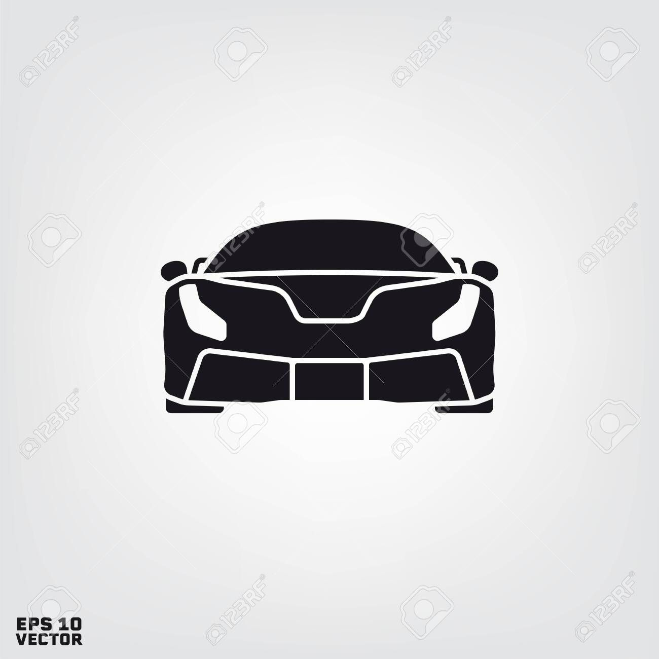 Sports Car Front View Silhouette Vector Illustration Illustration Sponsored Front View Sports Car Silhouette Vector Vector Illustration Illustration