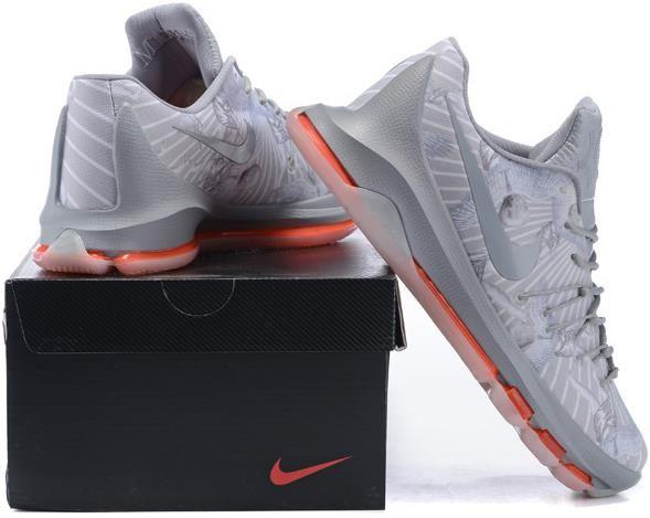 ade9530431b27 Nike KD 8 VIII Grey Orange