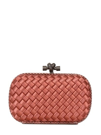 c4d9dcbcd5 BOTTEGA VENETA - KNOT INTRECCIO SATIN AND AYERS CLUTCH - LUISAVIAROMA