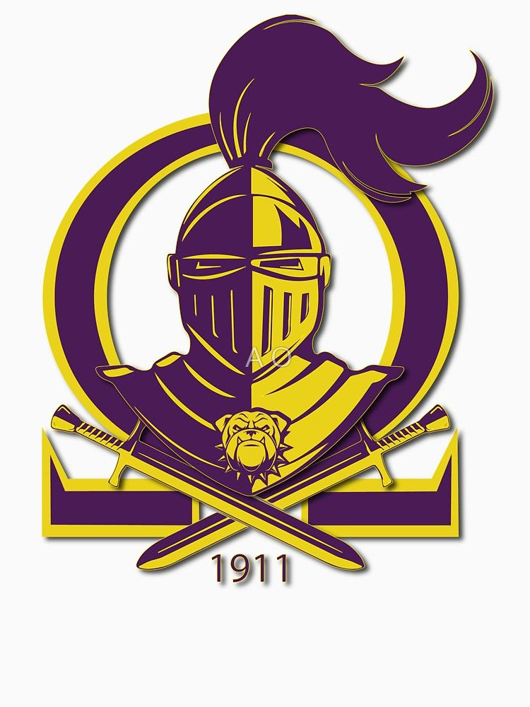 Omega Purple Gold Que Psi Phi Knight Shield Classic T Shirt
