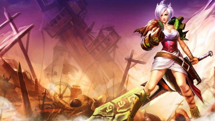 Riven League Of Legends Girl Sword 1920x1080 Pic League