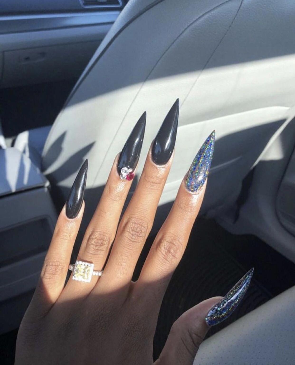 Acrylic Nails For Summer Which Are Fabulous Acrylicnailsforsummer Black Acrylic Nails Long Acrylic Nails Fake Nails
